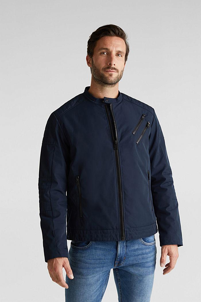 Lightly padded biker jacket, DARK BLUE, detail image number 0