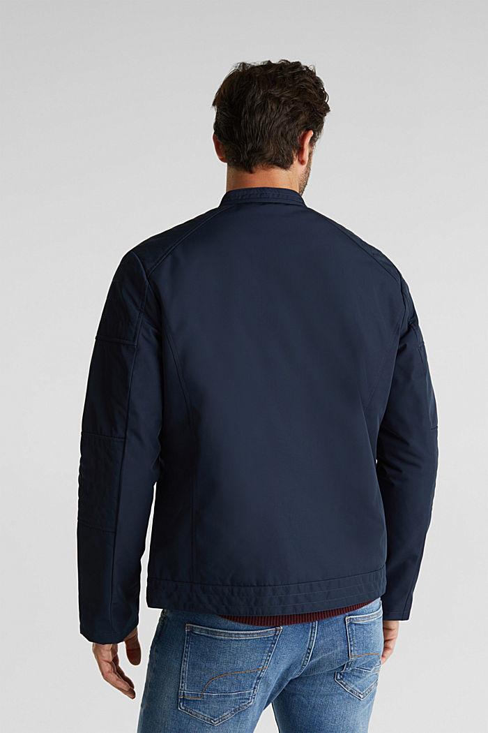 Lightly padded biker jacket, DARK BLUE, detail image number 3