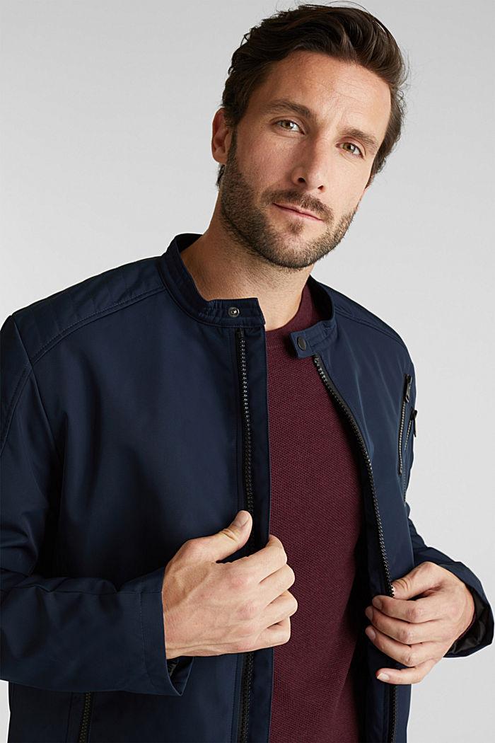 Lightly padded biker jacket, DARK BLUE, detail image number 6