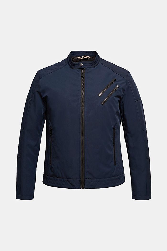 Lightly padded biker jacket, DARK BLUE, detail image number 7