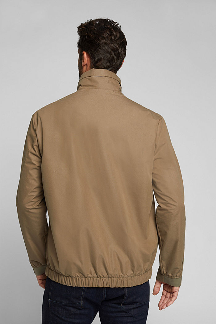 Lightweight outdoor jacket made of blended cotton, BROWN GREY, detail image number 3