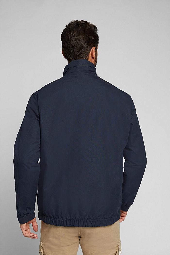 Lightweight outdoor jacket made of blended cotton, DARK BLUE, detail image number 3