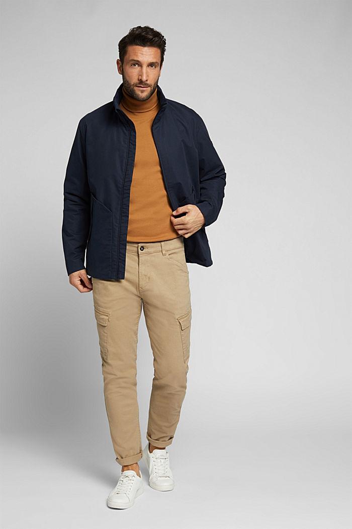 Lightweight outdoor jacket made of blended cotton, DARK BLUE, detail image number 1