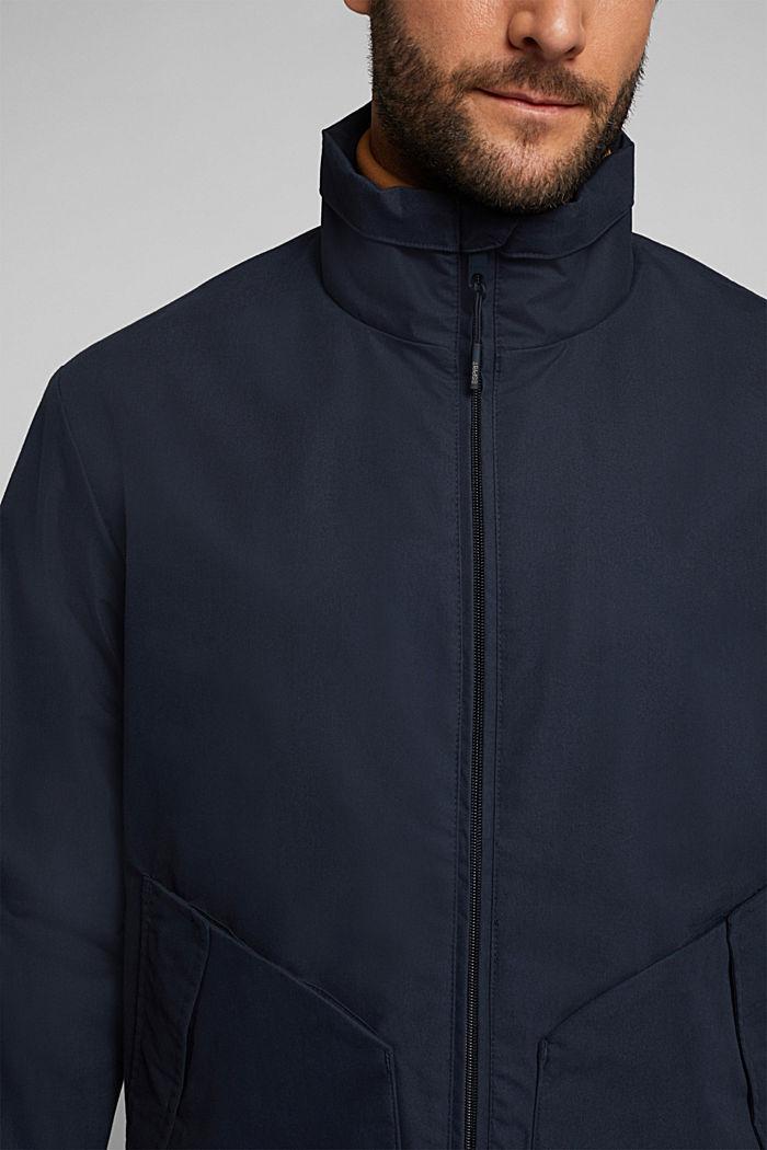 Lightweight outdoor jacket made of blended cotton, DARK BLUE, detail image number 2