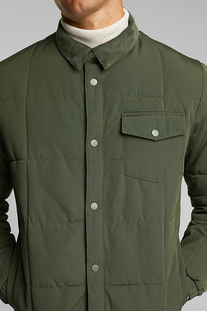 Jackets outdoor woven, DARK KHAKI, detail image number 2