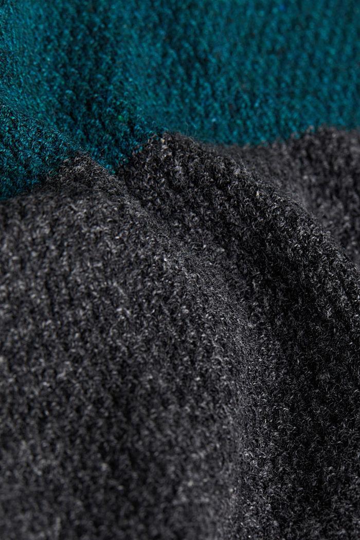 Colour block jumper, organic cotton, BOTTLE GREEN, detail image number 4
