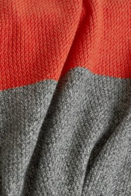 Colour block jumper, organic cotton, RUST ORANGE 3, detail