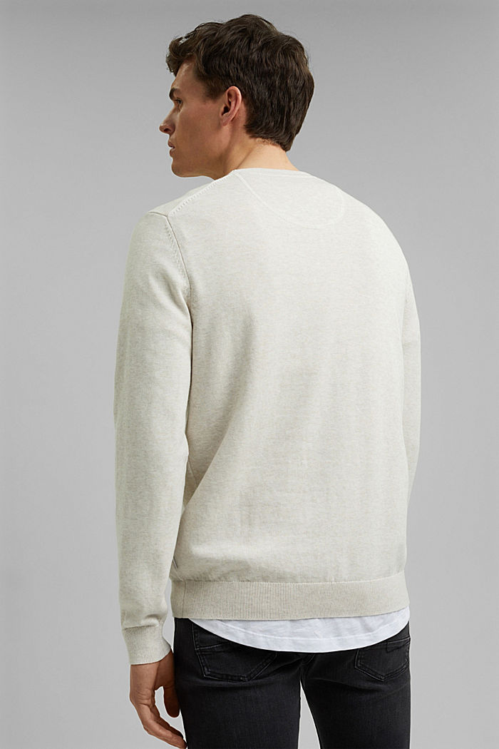 Pullover aus 100% Pima Organic Cotton, OFF WHITE, detail image number 3