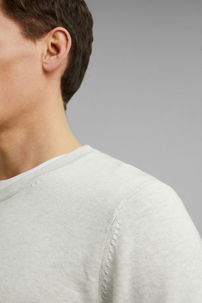 Pullover aus 100% Pima Organic Cotton, OFF WHITE, detail image number 2