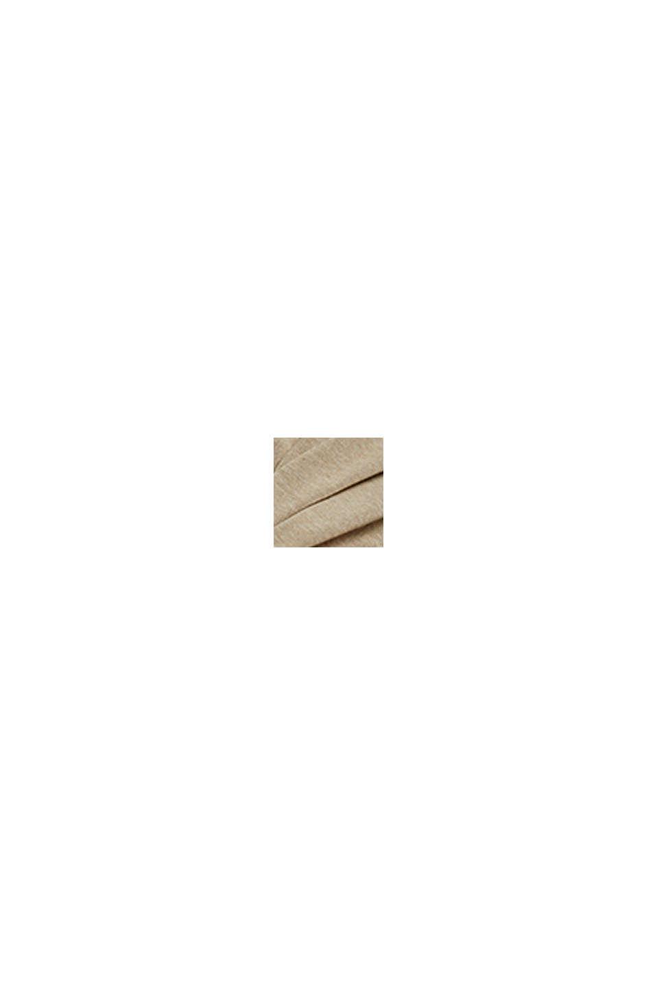 Jersey en 100% algodón ecológico Pima, BEIGE, swatch