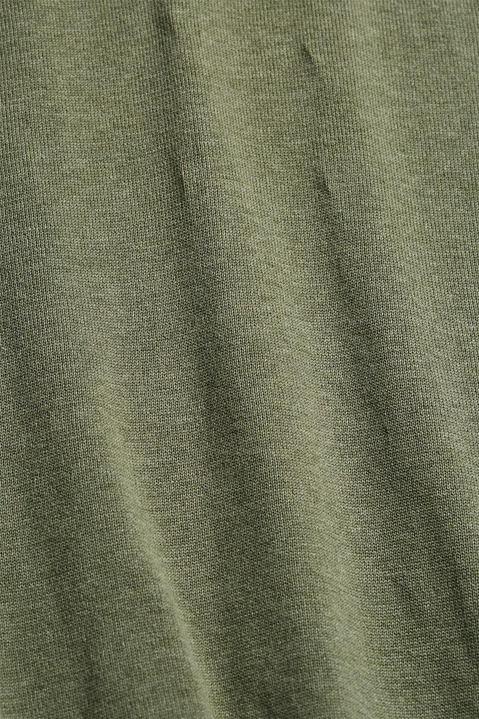 Jumper made of 100% organic pima cotton, LIGHT KHAKI, detail image number 4