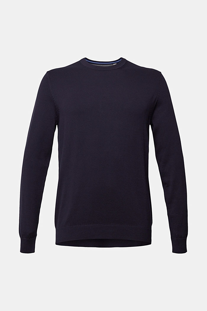 Pullover aus 100% Pima Organic Cotton, NAVY, overview