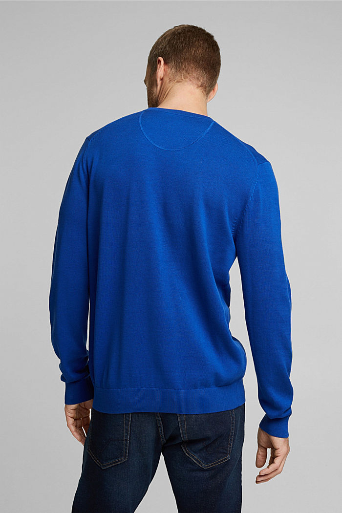 Pullover aus 100% Pima Organic Cotton, BRIGHT BLUE, detail image number 3
