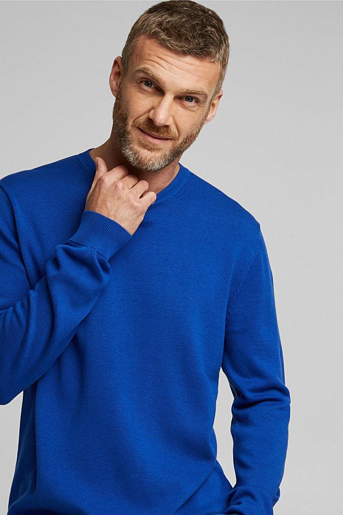 Pullover aus 100% Pima Organic Cotton, BRIGHT BLUE, detail image number 5