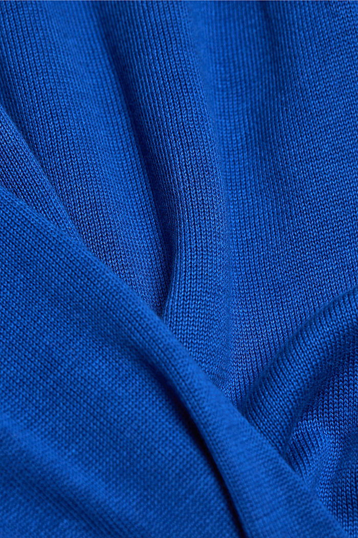 Jumper made of 100% organic pima cotton, BRIGHT BLUE, detail image number 4