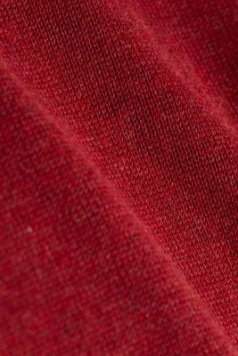 Jumper made of 100% organic pima cotton, GARNET RED 5, detail