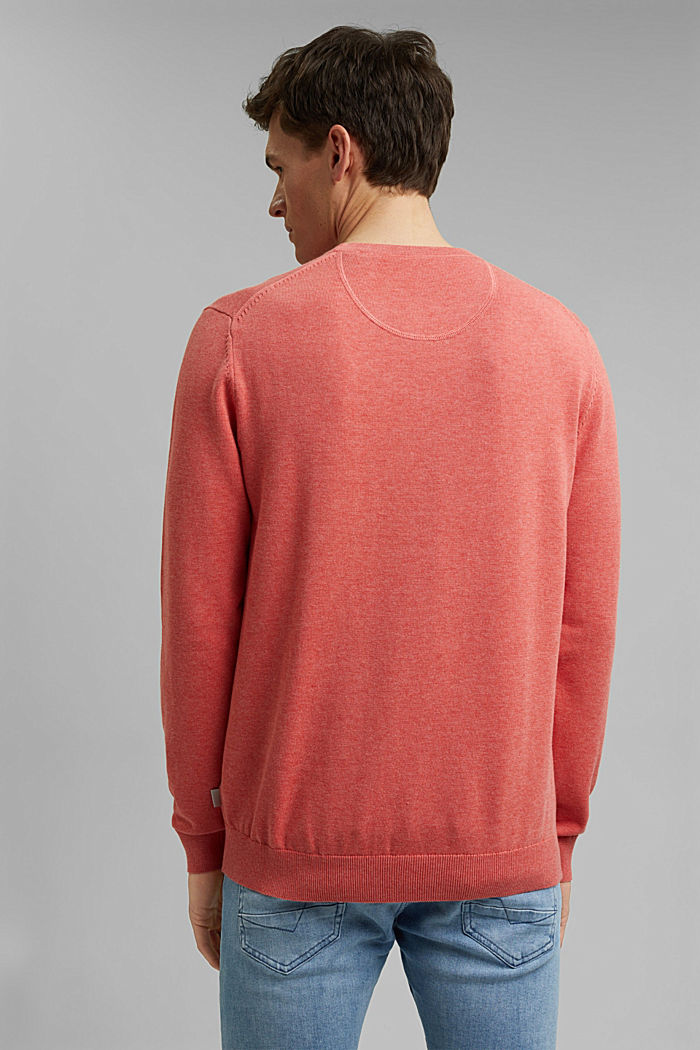 Pullover aus 100% Pima Organic Cotton, CORAL, detail image number 3
