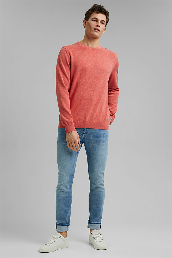 Jumper made of 100% organic pima cotton, CORAL, detail image number 6