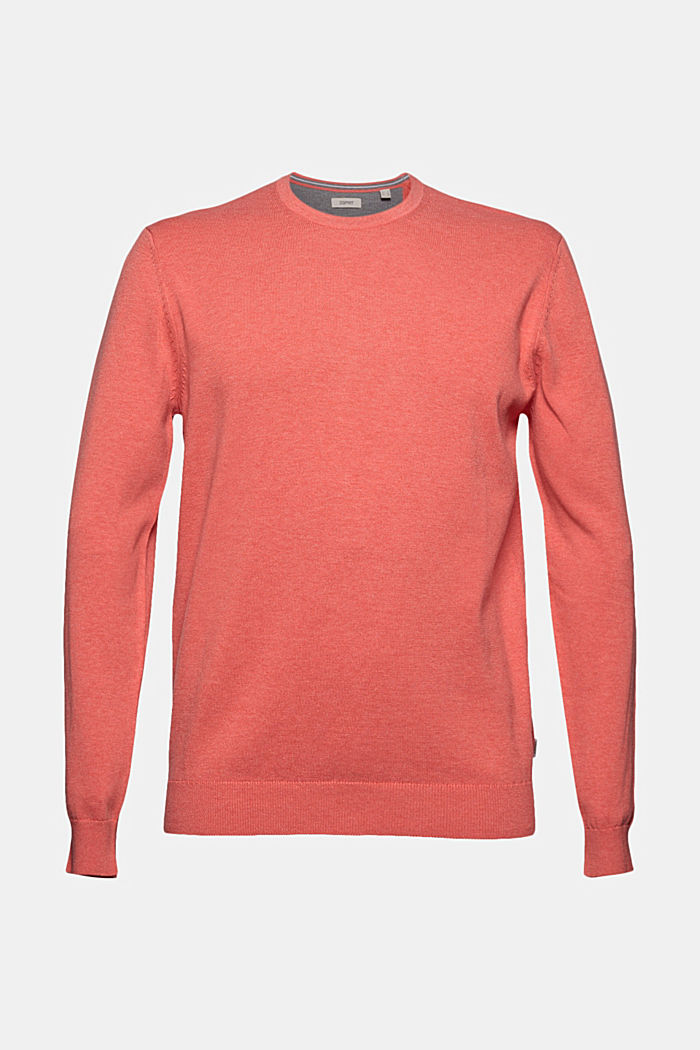 Jumper made of 100% organic pima cotton, CORAL, detail image number 5