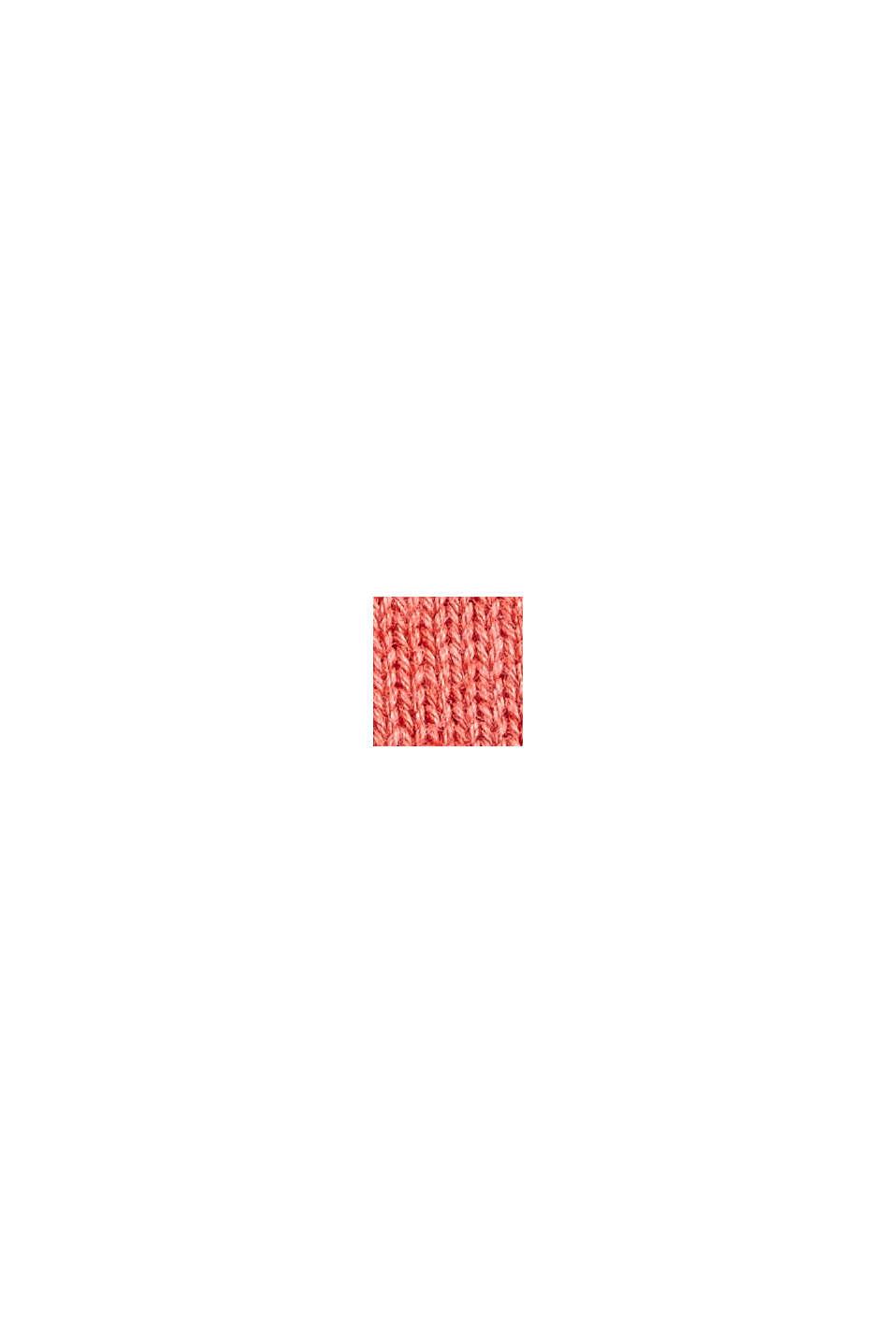 Jersey en 100% algodón ecológico Pima, CORAL, swatch
