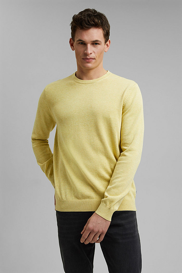 Jumper made of 100% organic pima cotton, LIGHT YELLOW, detail image number 0