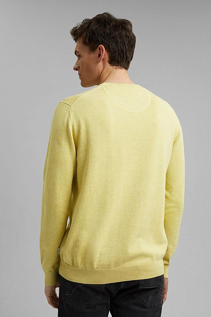 Pullover aus 100% Pima Organic Cotton, LIGHT YELLOW, detail image number 3