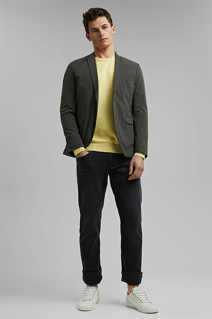 Pullover aus 100% Pima Organic Cotton, LIGHT YELLOW, detail image number 1