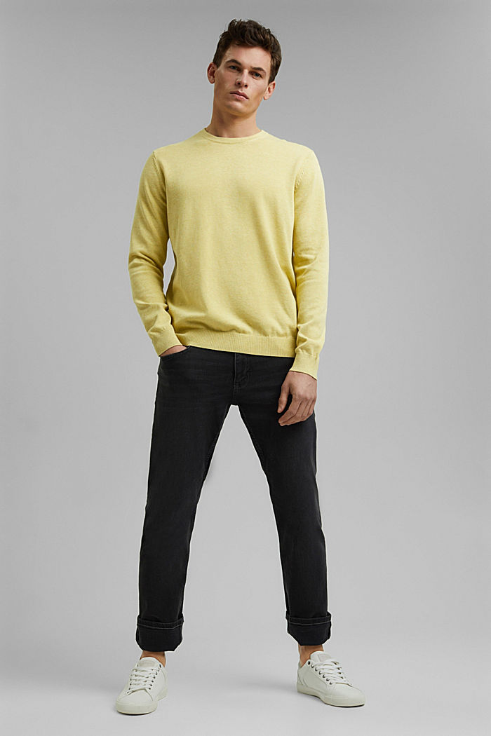 Jumper made of 100% organic pima cotton, LIGHT YELLOW, detail image number 6
