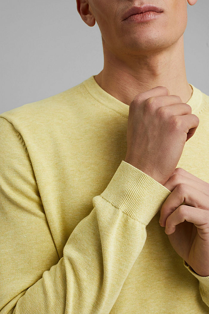 Jumper made of 100% organic pima cotton, LIGHT YELLOW, detail image number 2