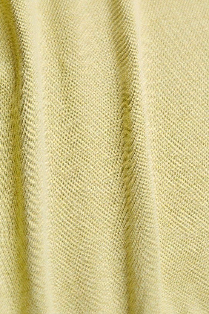 Jumper made of 100% organic pima cotton, LIGHT YELLOW, detail image number 4