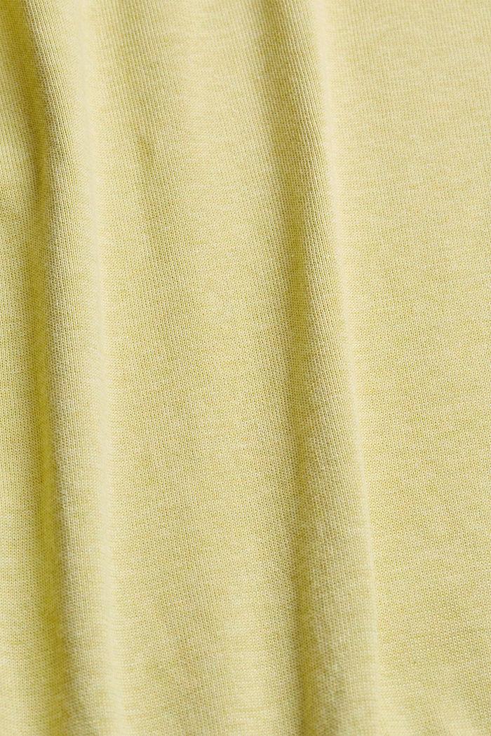 Pullover aus 100% Pima Organic Cotton, LIGHT YELLOW, detail image number 4