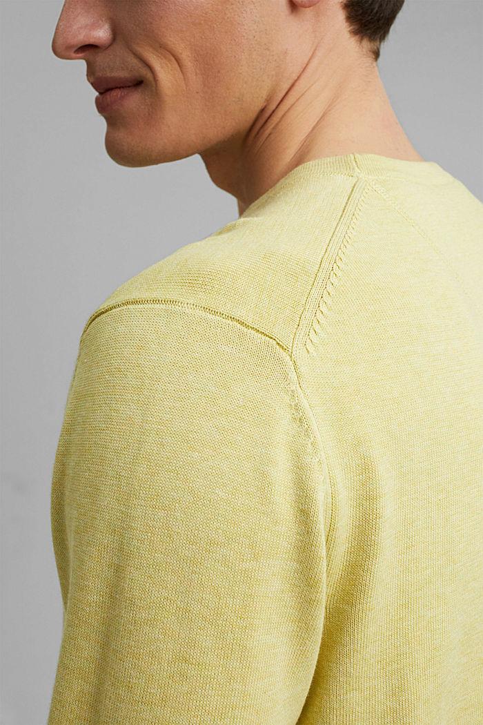 Pullover aus 100% Pima Organic Cotton, LIGHT YELLOW, detail image number 5