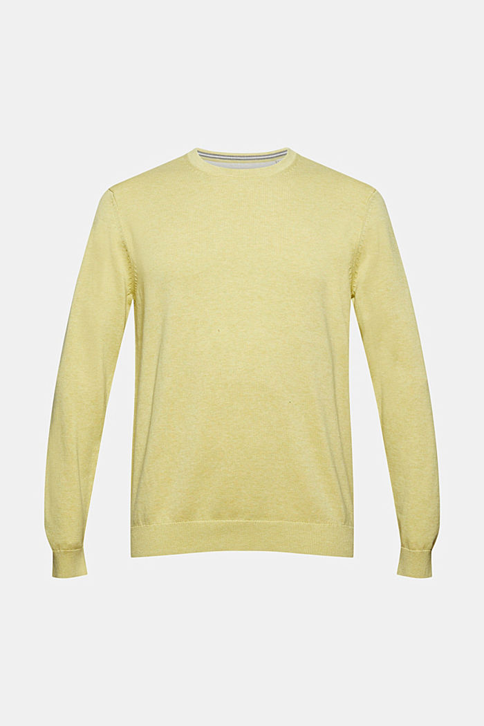 Jumper made of 100% organic pima cotton, LIGHT YELLOW, detail image number 7