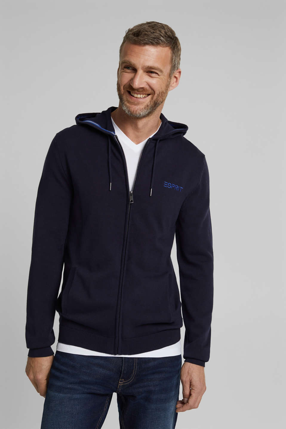 Esprit - logo zip sweater