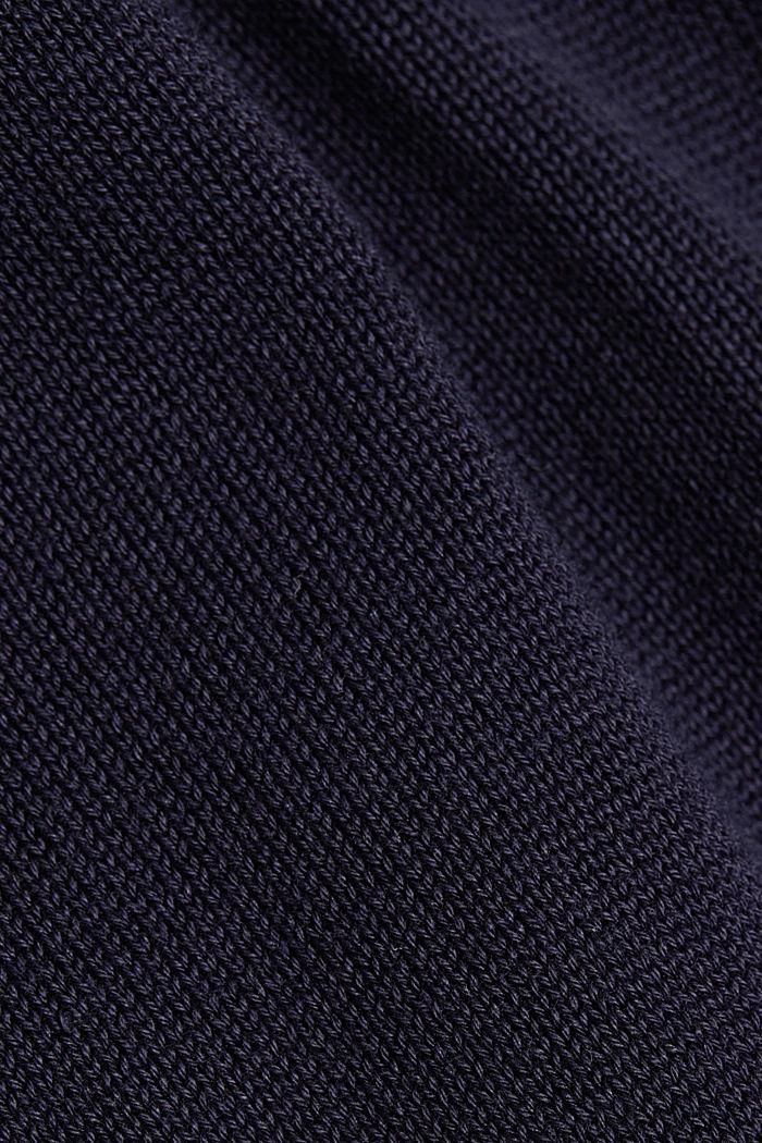 Kapuzen-Cardigan aus 100% Organic Cotton, NAVY, detail image number 4