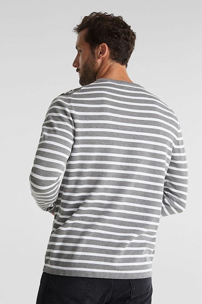 Striped jumper made of 100% organic cotton, MEDIUM GREY, detail image number 3