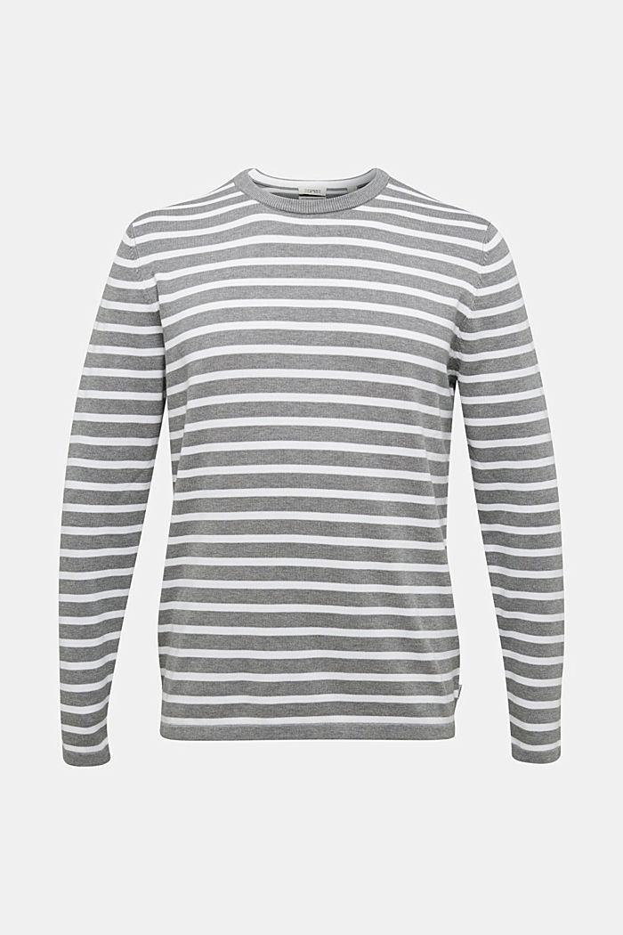Striped jumper made of 100% organic cotton, MEDIUM GREY, detail image number 5