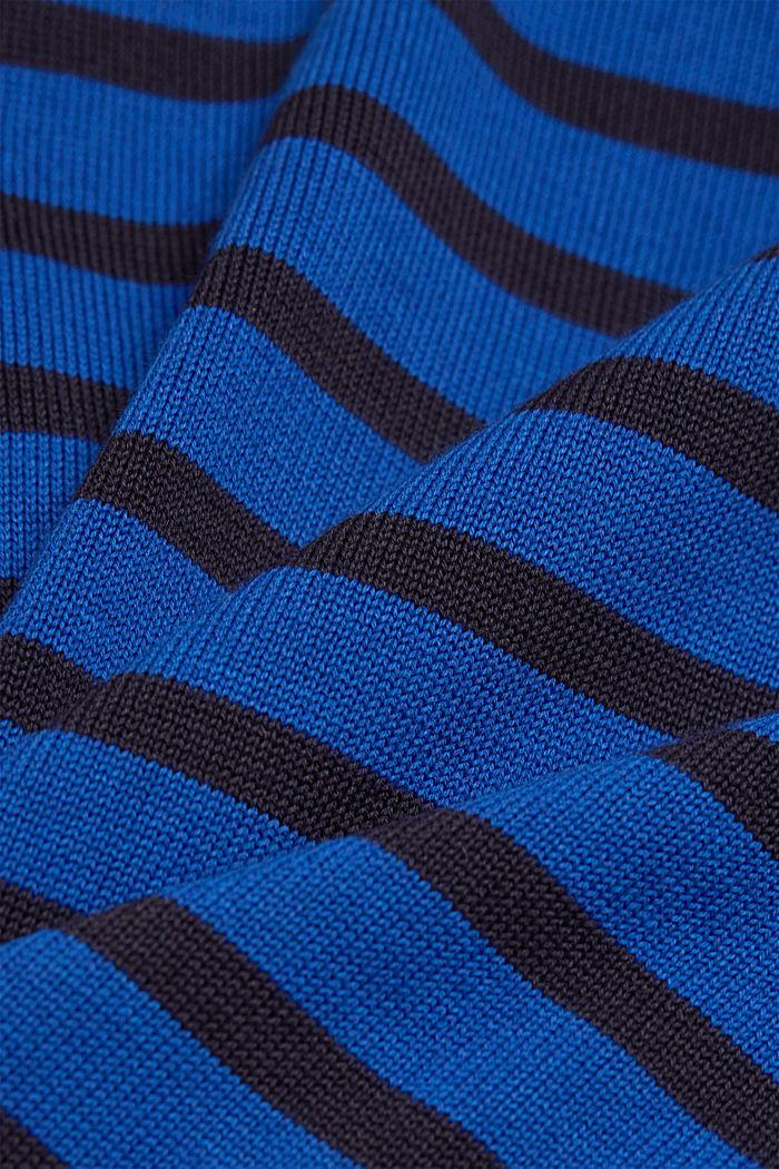 Gestreifter Pullover aus 100% Bio-Baumwolle, BRIGHT BLUE, detail image number 4