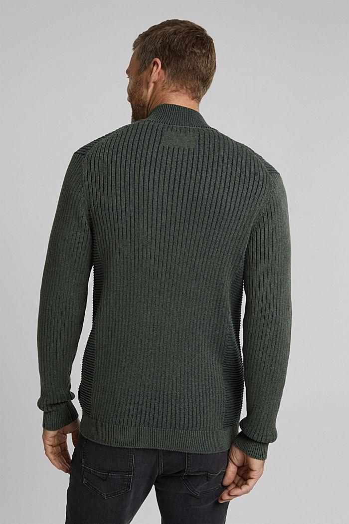 Strick-Cardigan aus 100% Organic Cotton, LIGHT KHAKI, detail image number 3