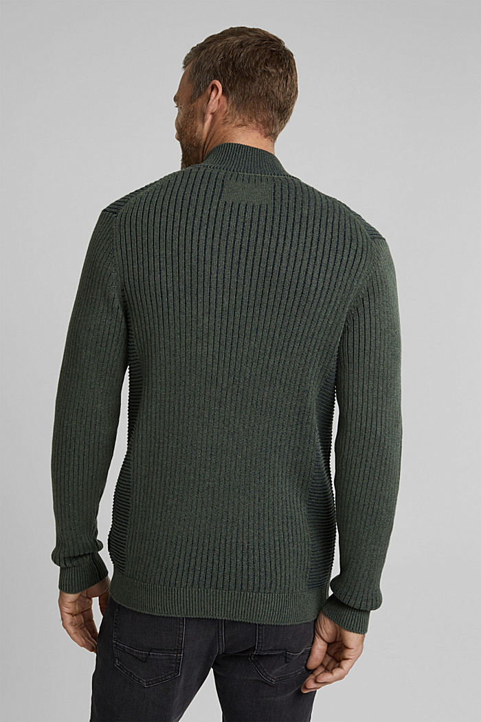 Knit cardigan made of 100% organic cotton, LIGHT KHAKI, detail image number 3