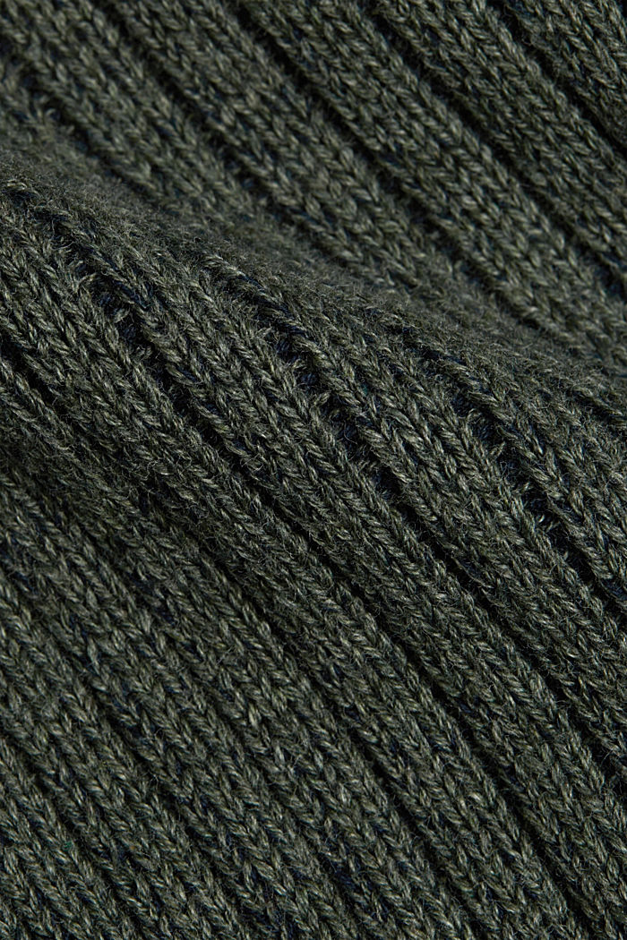 Strick-Cardigan aus 100% Organic Cotton, LIGHT KHAKI, detail image number 4