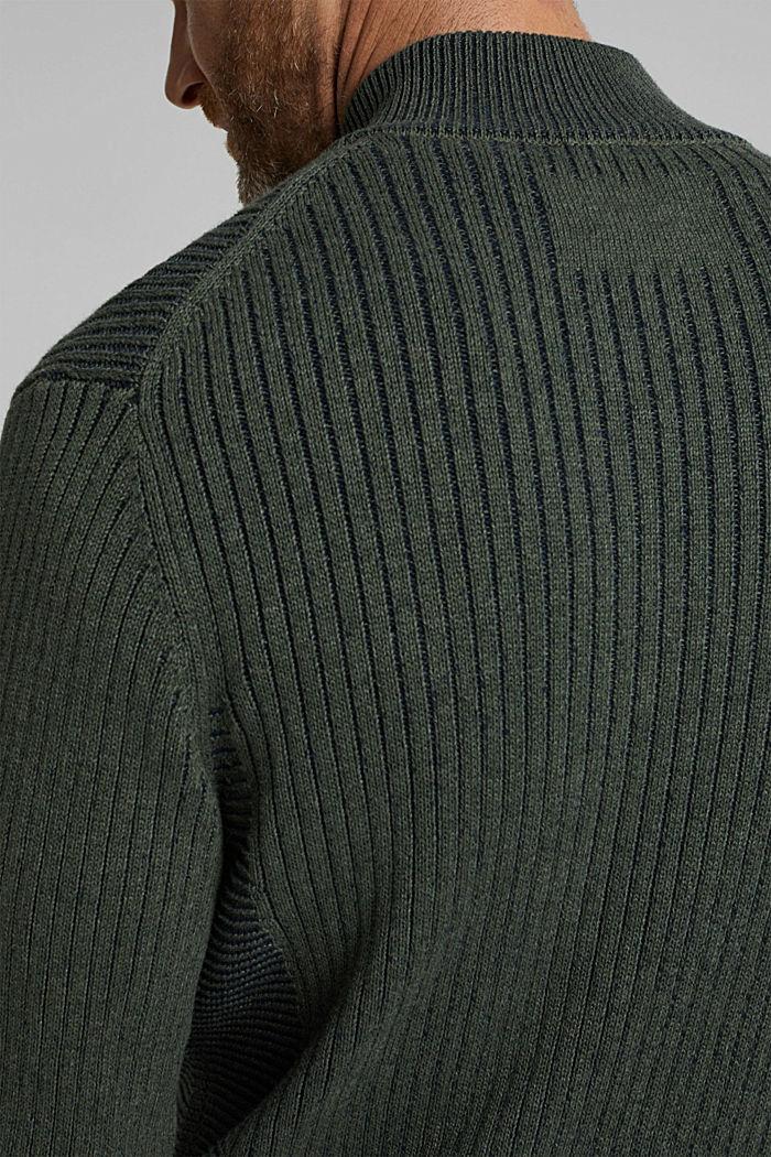 Strick-Cardigan aus 100% Organic Cotton, LIGHT KHAKI, detail image number 6
