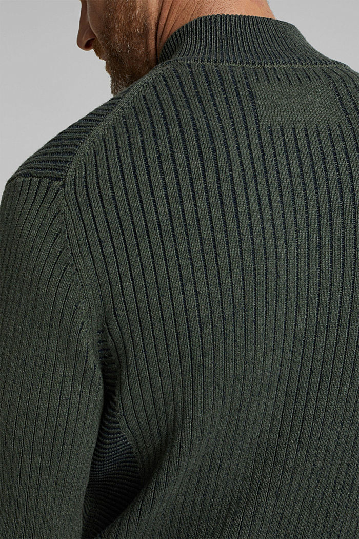 Knit cardigan made of 100% organic cotton, LIGHT KHAKI, detail image number 6