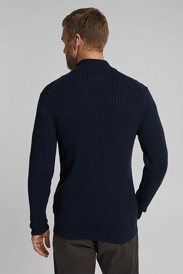 Knit cardigan made of 100% organic cotton, NAVY, detail image number 3