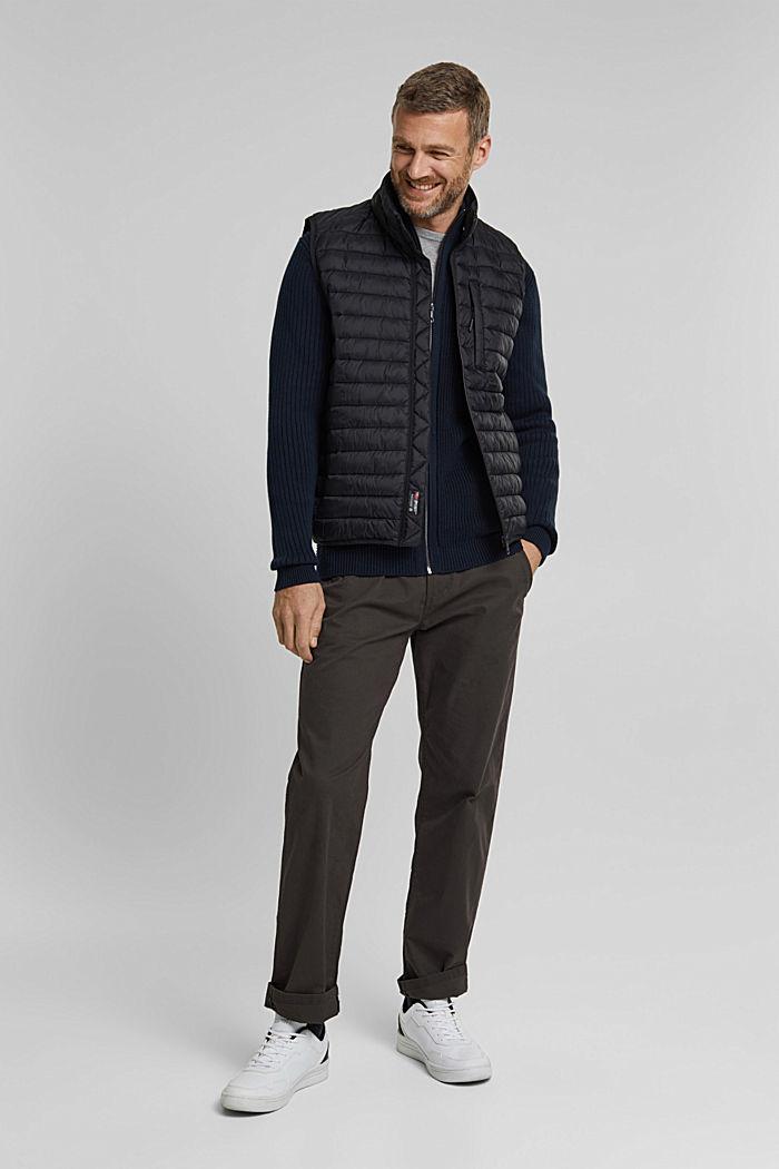 Knit cardigan made of 100% organic cotton, NAVY, detail image number 1