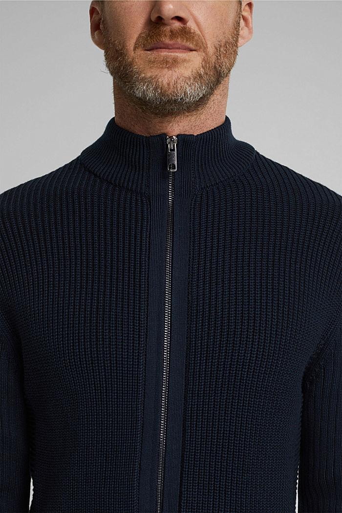 Knit cardigan made of 100% organic cotton, NAVY, detail image number 2