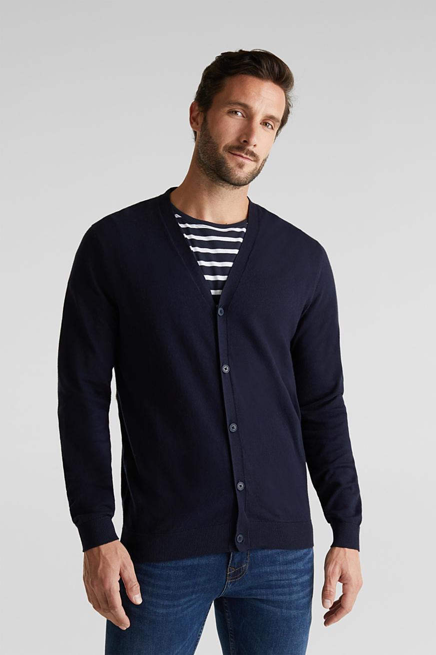 With cashmere: V-neck cardigan