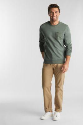 Recycled: Sweatshirt with organic cotton, LIGHT KHAKI, detail