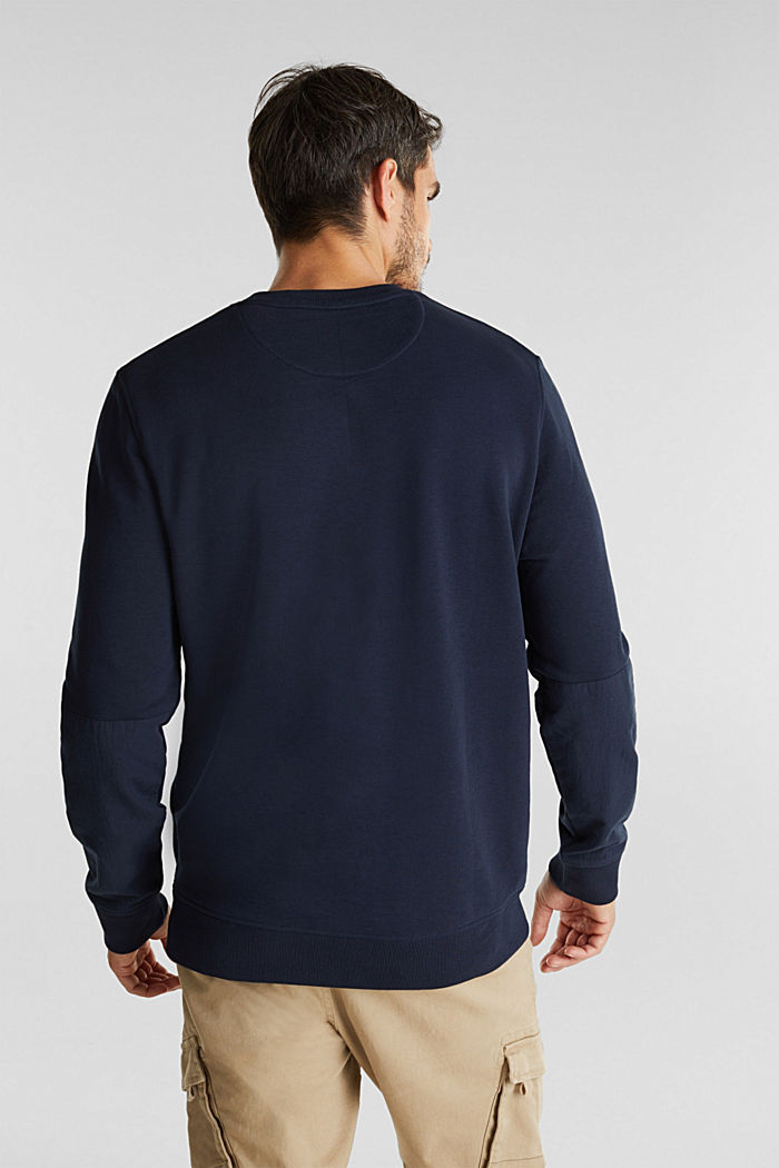 Recycled: Sweatshirt with organic cotton, DARK BLUE, detail image number 3