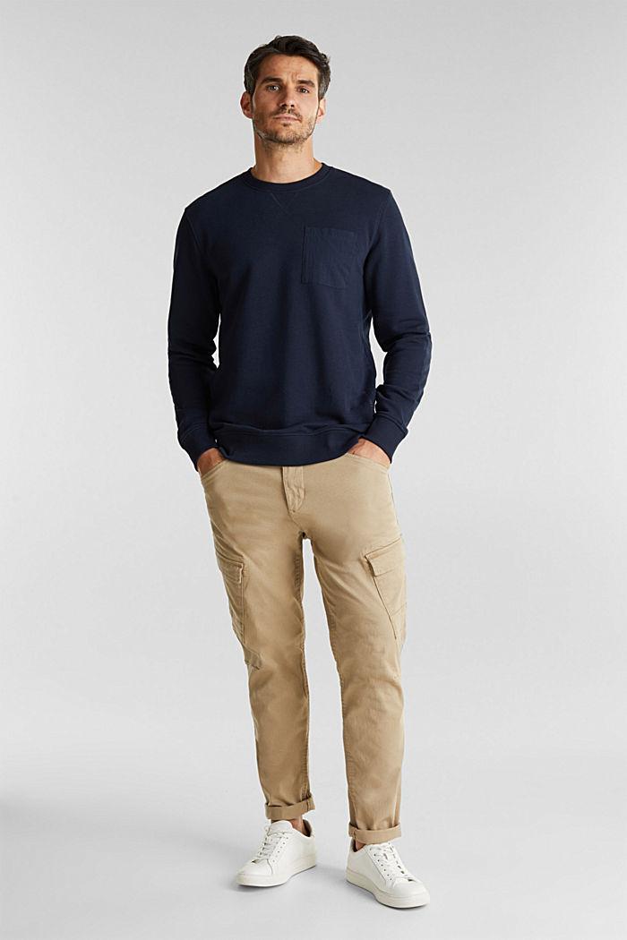 Recycelt: Sweatshirt mit Bio-Baumwolle, DARK BLUE, detail image number 1